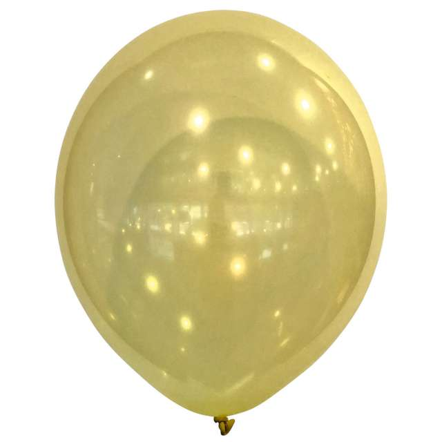 "Balony ""Decor Premium - Droplets"", żółte, Amscan, 11"", 50 szt"