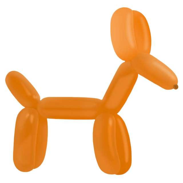 """Balony """"Decorator - Modeliny"""", pomarańczowe c iemne, Amscan, 45"""", 100 szt"""