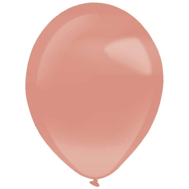 """Balony """"Decor Premium - Pearl"""", różowe złoto, Amscan, 11"""", 50 szt"""