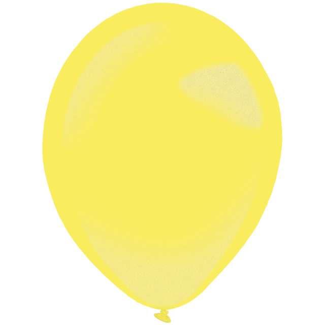 "Balony ""Decor Premium - Metallic"", żółte, Amscan, 11"", 50 szt"