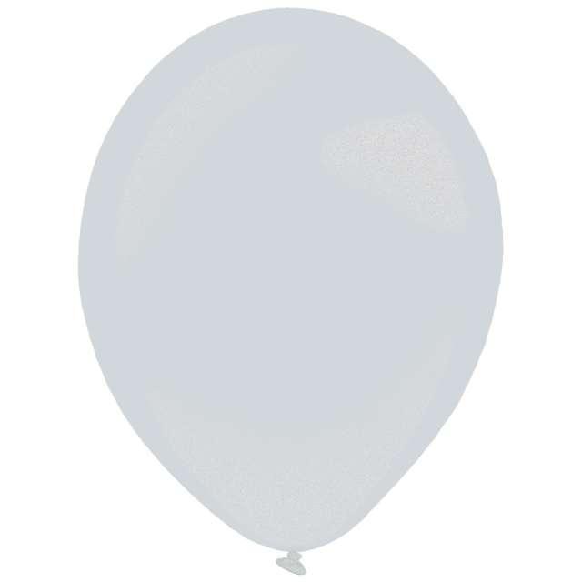 "Balony ""Decor Premium - Metallic"", srebrne, Amscan, 11"", 50 szt"