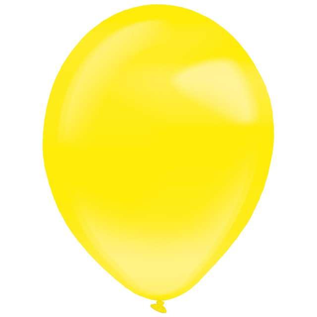 """Balony """"Decor Premium - Crystal"""", żółte, Amscan, 11"""", 50 szt"""