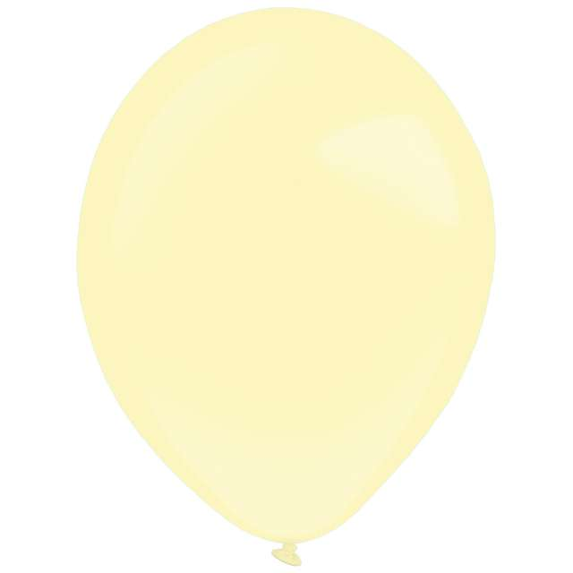 "Balony ""Decor Premium - Fashion"", kremowe, Amscan, 11"", 50 szt"