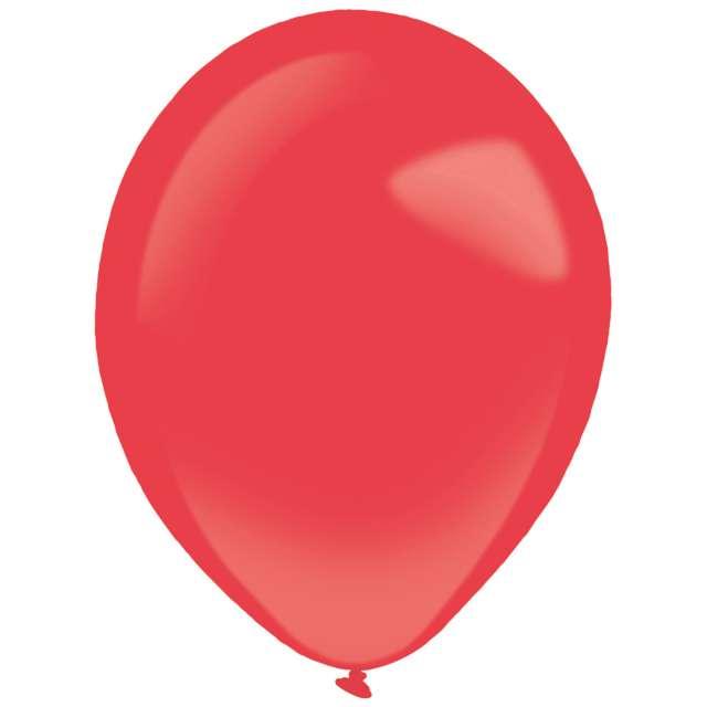 """Balony """"Decor Premium - Standard"""", czerwone, Amscan, 11"""", 50 szt"""
