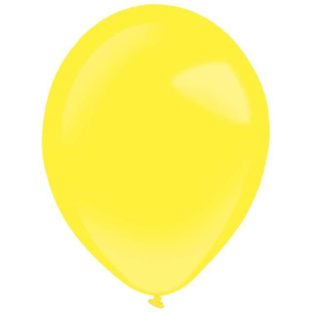 "Balony ""Decor Premium - Standard"", żółte, Amscan, 11"", 50 szt"
