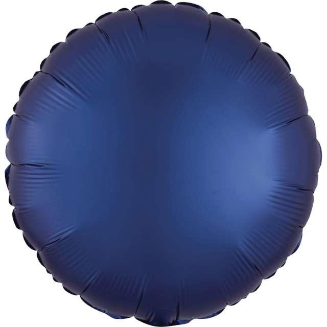 """Balon foliowy """"Okrągły satynowy"""", granatowy, Amscan, 17"""", RND"""