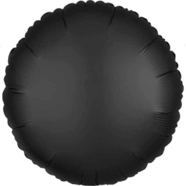 """Balon foliowy """"Okrągły satynowy"""", czarny, Amscan, 17"""", RND"""