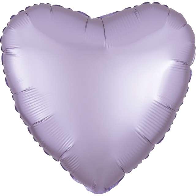 """Balon foliowy """"Serce satynowe"""", liliowy, Amscan, 17"""""""