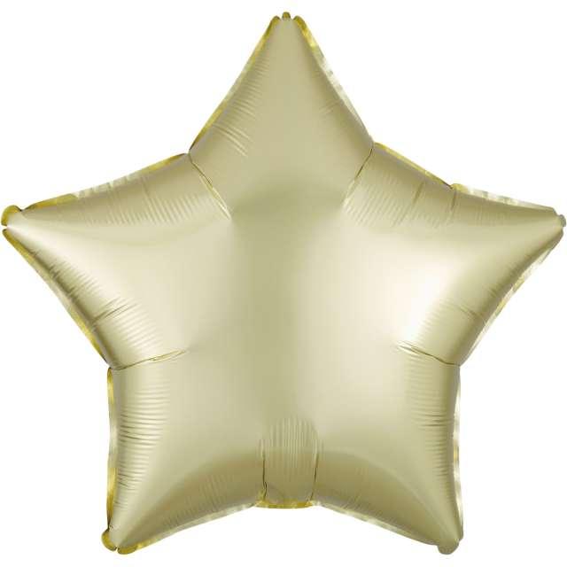 """Balon foliowy """"Gwiazda satynowa"""", żółty jasny, Amscan, 17"""", STR"""