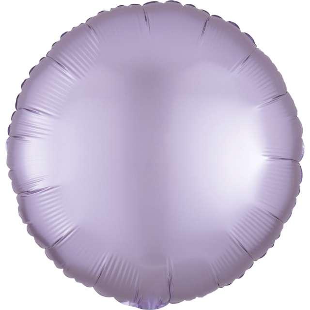 "Balon foliowy ""Okrągły satynowy"", liliowy, Amscan, 17"", RND"