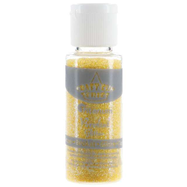"Brokat sypki ""Classic w Butelce"", żółty, 20 ml, Titanum"