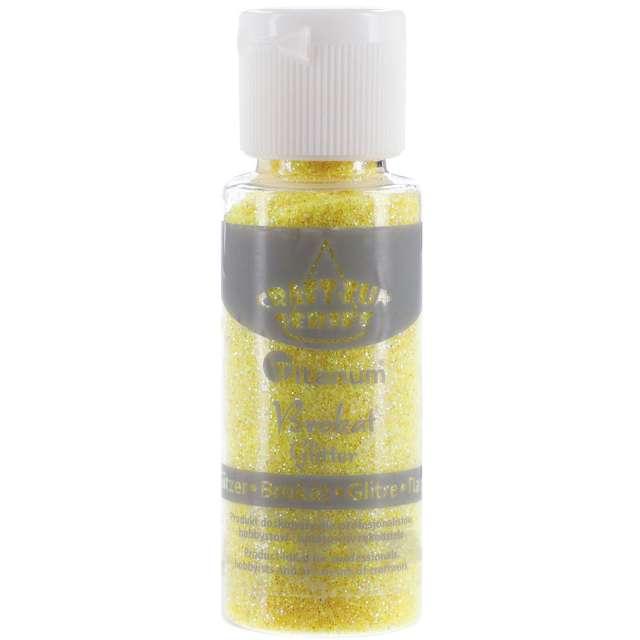 """Brokat sypki """"Classic w Butelce"""", żółty jasny, 20 ml, Titanum"""