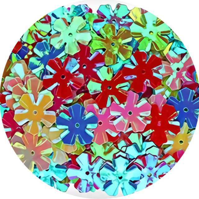 "Cekiny ""Kwiatki holo"", mix, 13 mm, 14 g, Titanum"