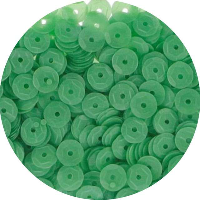 "Cekiny ""Classic Mat"", zielone, 7 mm, 10 g, Titanum"