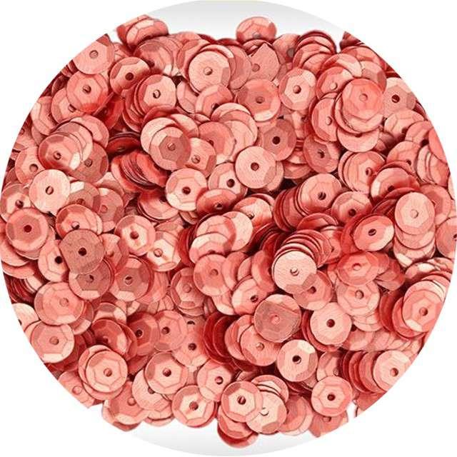 """Cekiny """"Classic Mat"""", różowe złoto, 7 mm, 10 g, Titanum"""