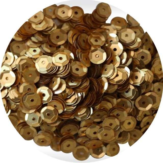 "Cekiny ""Classic Mat"", złote, 7 mm, 10 g, Titanum"