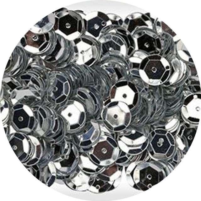 "Cekiny ""Classic Metallic"", srebrne, 9 mm, 14 g, Titanum"