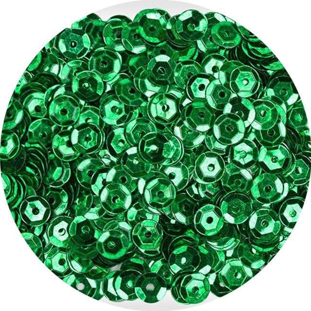 "Cekiny ""Classic Metallic"", zielone, 7 mm, 14 g, Titanum"