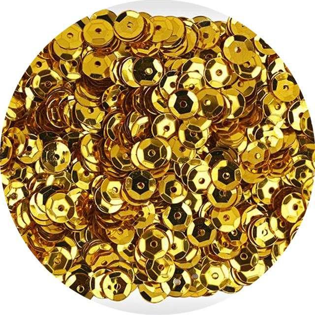"Cekiny ""Classic Metallic"", złote, 7 mm, 14 g, Titanum"