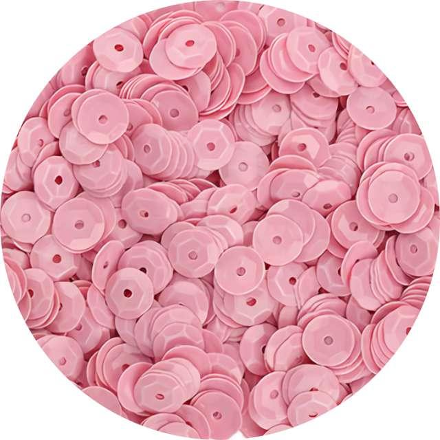 "Cekiny ""Classic Pastel"", różowe, 7 mm, 10 g, Titanum"