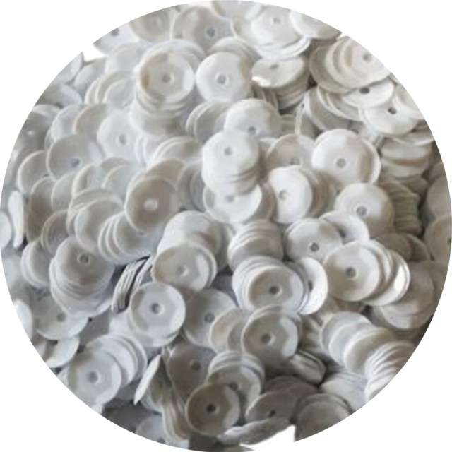 "Cekiny ""Classic Pastel"", białe, 7 mm, 10 g, Titanum"