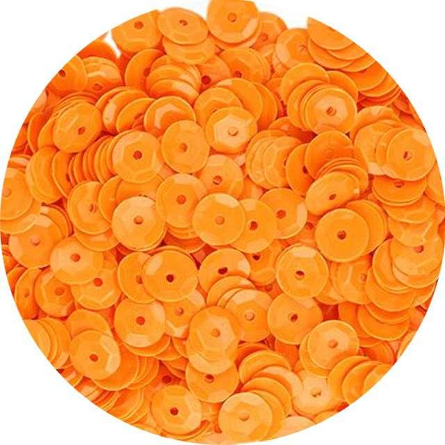 "Cekiny ""Classic Pastel"", pomarańczowe, 7 mm, 10 g, Titanum"