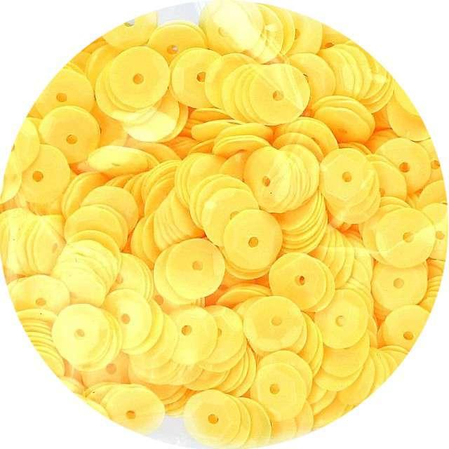 "Cekiny ""Classic Pastel"", żółte, 7 mm, 10 g, Titanum"