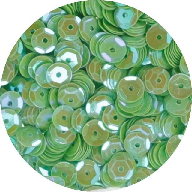 """Cekiny """"Classic Opalizujący"""", zielone jasne, 7 mm, 10 g, Titanum"""
