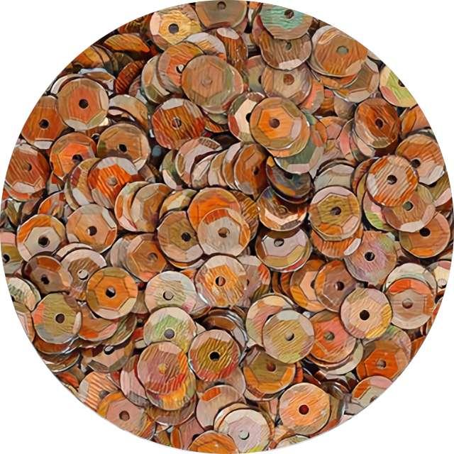 """Cekiny """"Classic Opalizujący"""", brązowe, 7 mm, 10 g, Titanum"""