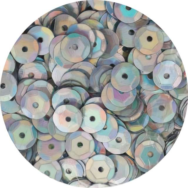 """Cekiny """"Classic Opalizujący"""", srebrne, 7 mm, 10 g, Titanum"""