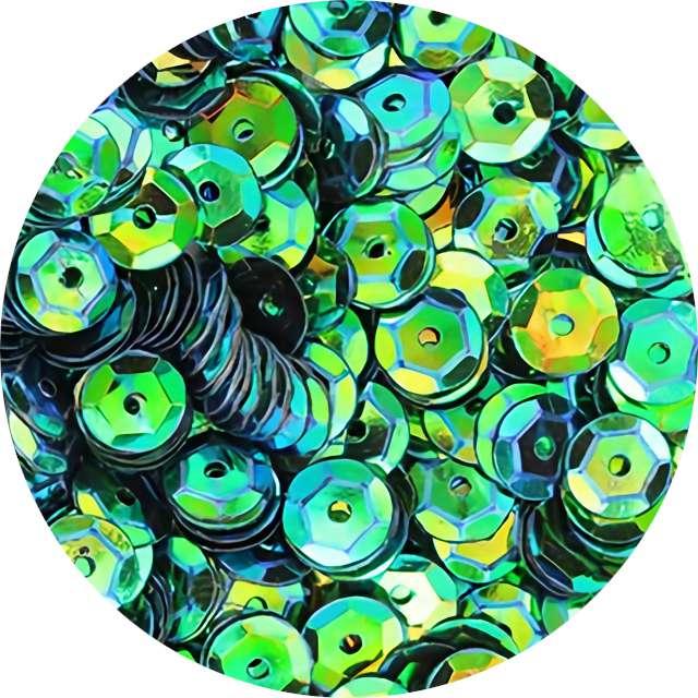 """Cekiny """"Classic Opalizujący"""", zielone, 7 mm, 10 g, Titanum"""