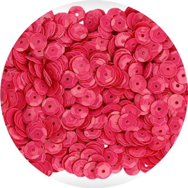 """Cekiny """"Neon"""", różowe, 7 mm, 10 g, Titanum"""