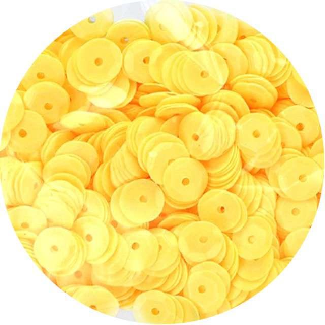 "Cekiny ""Classic"", żółte, 9 mm, 14 g, Titanum"