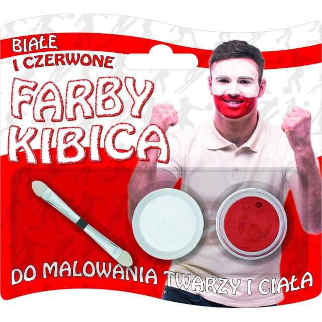 """Make-up party """"Farba do twarzy - Kibic"""", biało-czerwona, Titanum, 2 szt"""