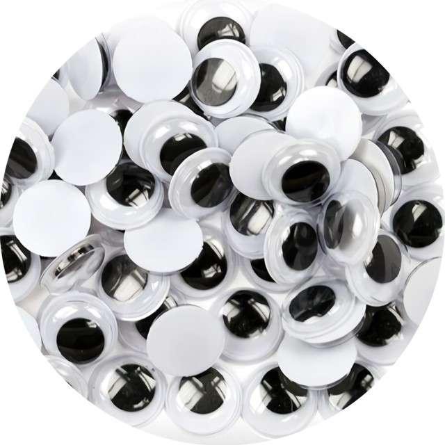 "Oczka ""Ruchome"", Titanum, 10 mm, 30 szt"