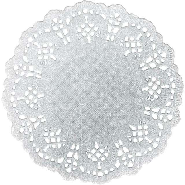 "Serwetki dekoracyjne ""Classic"", srebrne, Titanum, 11,5 cm, 35 szt"