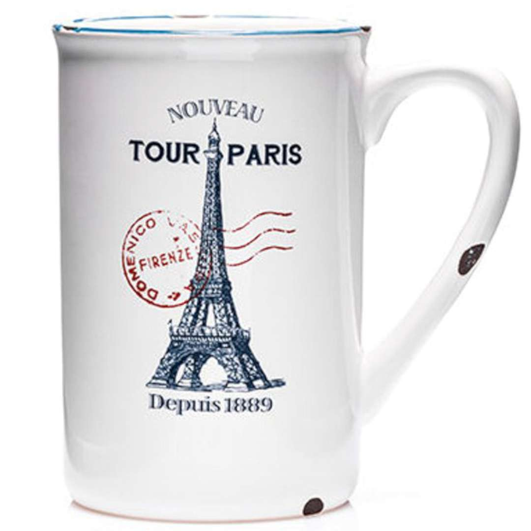 Porcelanowy kubek retro - Paris