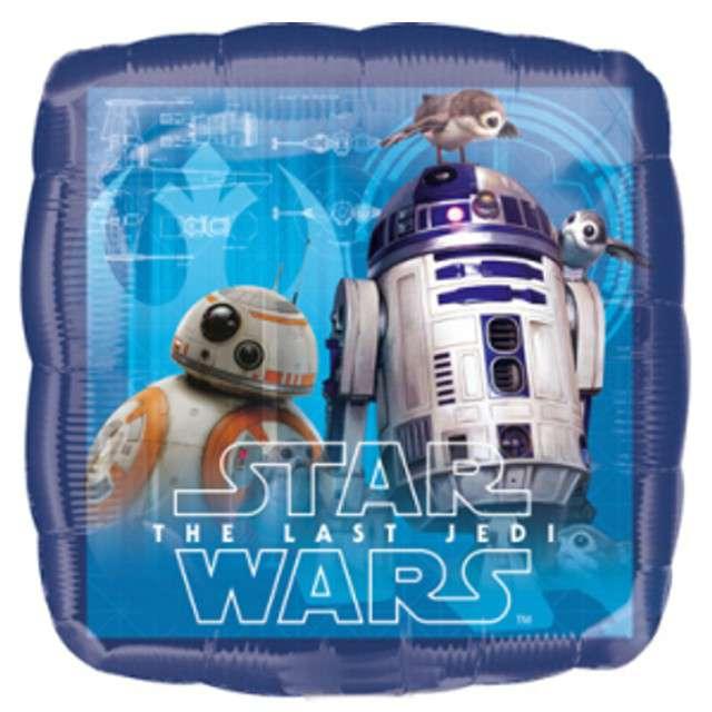 Balon Star Wars Last Jedi niebieski Amscan 9 SQR