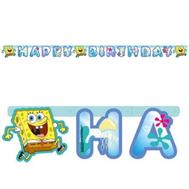 "Baner ""Happy Birthday - SpongeBob"", Amscan, 79x12 cm"