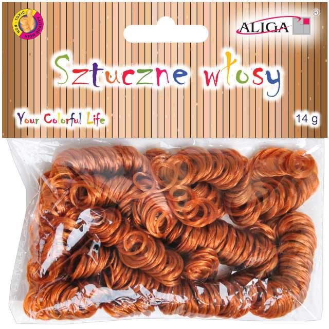 """Sztuczne włosy """"Classic"""", brązowe, Aliga, 14 g"""