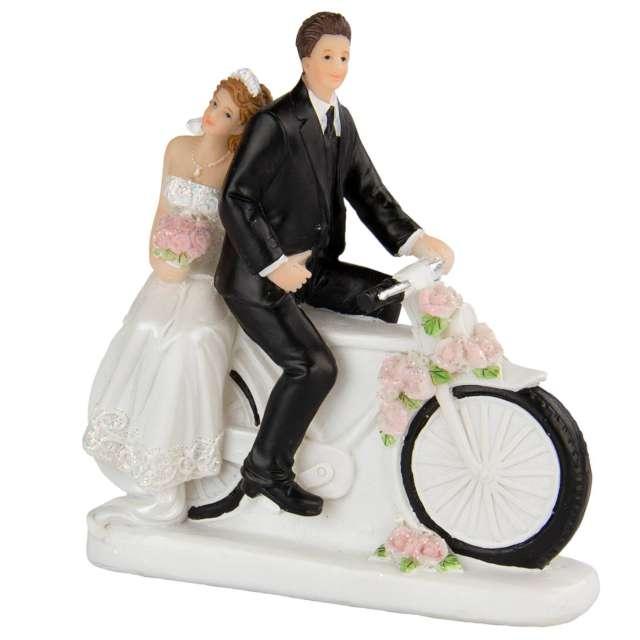 """Figurka na tort """"Para Młoda na motocyklu"""", Folat, 12 cm"""