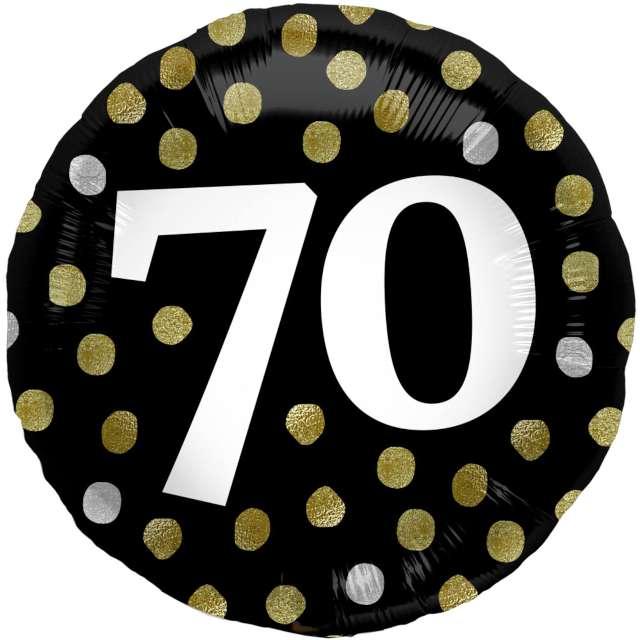 """Balon foliowy """"Glossy - 70 Urodziny"""", czarnY, Folat, 17"""""""