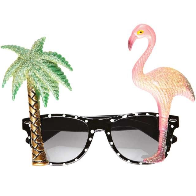 """Okulary party """"Flaming z Palmą - Hawajskie"""", Widmann"""