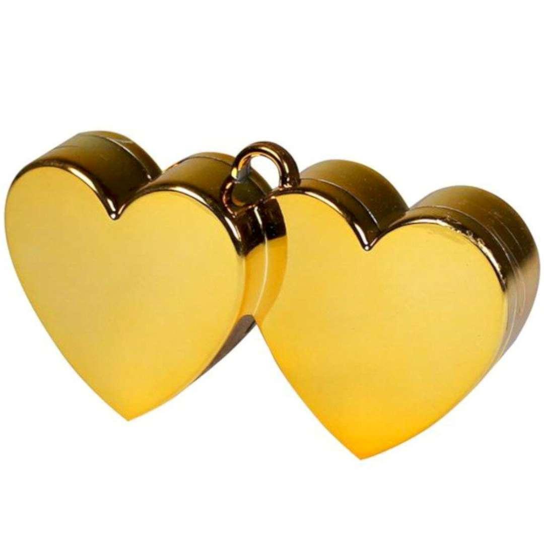 Obciążnik do balonów, Dwa serca, złote