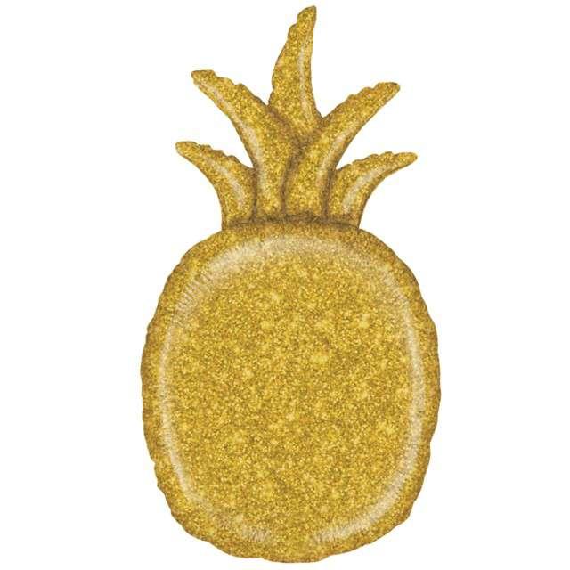 "Balon foliowy ""Ananas brokatowy"", holo, Grabo, 35"", SHP"