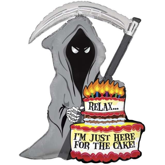 """Balon foliowy """"Śmierć z tortem"""", Grabo, 35"""", SHP"""