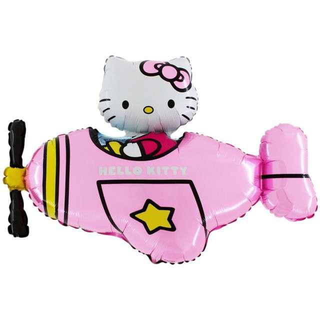 """Balon foliowy """"Hello Kitty samolot"""", Grabo, 36"""", SHP"""
