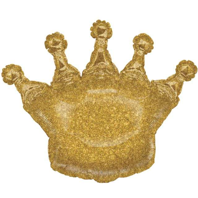 "Balon foliowy ""Złota korona"", holo, Grabo, 36"", SHP"