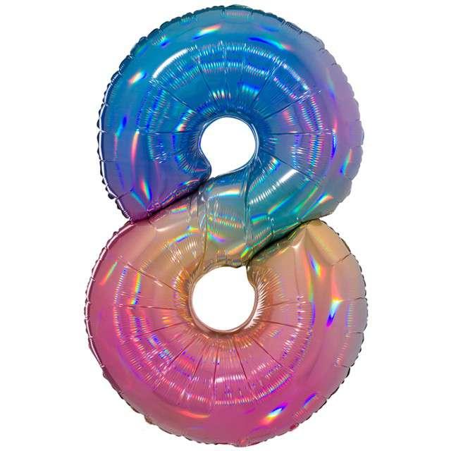 Balon Grabo 40 Cyfra 8 Colourful Rainbow