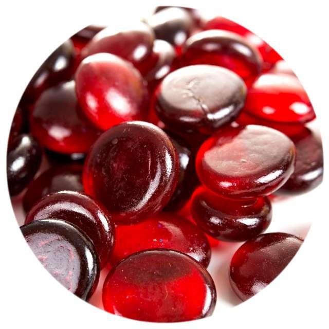 """Kamienie dekoracyjne """"Płaskie"""", czerwone, Czakos, 40 szt"""